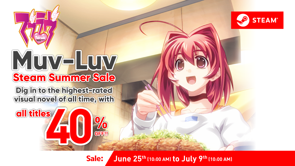 Muv-Luv Series Summer Sale  All Titles 40% Off!