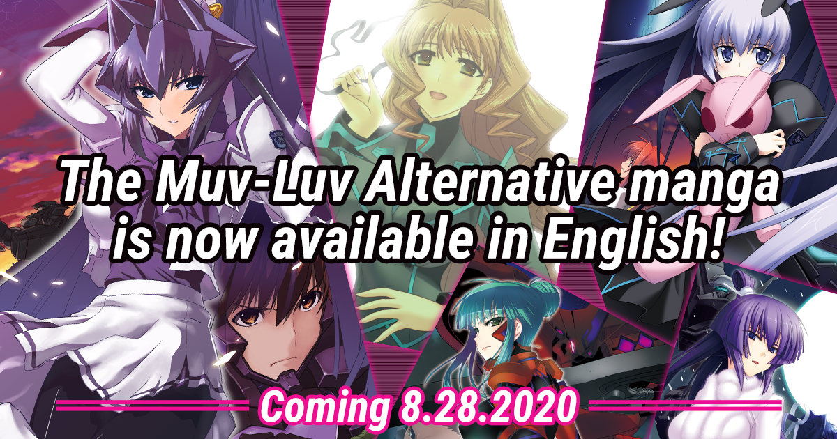 The Muv-Luv Alternative Manga is Coming to Digital Bookstores on August 28th!